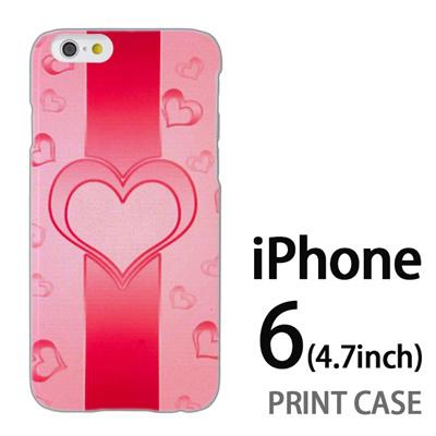 iPhone6 (4.7インチ) 用『No4 ハートライン ピンク』特殊印刷ケース【 iphone6 iphone アイフォン アイフォン6 au docomo softbank Apple ケース プリント カバー スマホケース スマホカバー 】の画像