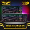 NEW! Armaggeddon  Blue Mechanical Keyboard w MULTICOLOR LED Lights. ADJUSTABLE Lighting speed N brightness. Durable content switches  MKA-3C   MKA-7C.