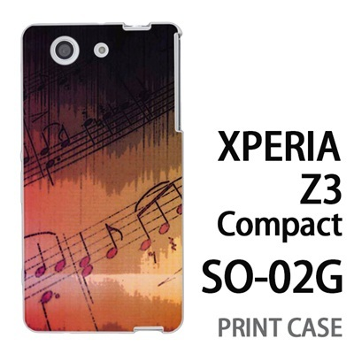 XPERIA Z3 Compact SO-02G 用『No3 楽譜』特殊印刷ケース【 xperia z3 compact so-02g so02g SO02G xperiaz3 エクスペリア エクスペリアz3 コンパクト docomo ケース プリント カバー スマホケース スマホカバー】の画像