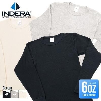インデラミルズ Tシャツ サーマル INDERA MILLS メンズ ロング 長袖 6オンス ブランド ファッション インナー 通販の画像