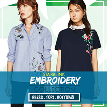[24 MAY NEW] Embroidery Blouse Shirts Tshirt Collections