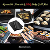 Premium BBQ Grill Bake Mat 40cmx33cm/ Non-stick/Work on Grill/Baking/ Dishwasher Safe/ Thick