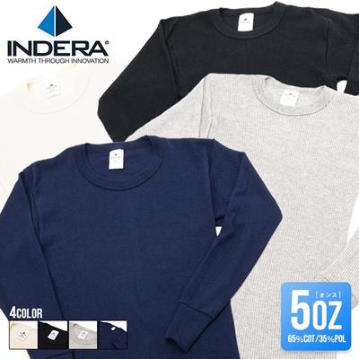 インデラミルズ Tシャツ サーマル INDERA MILLS メンズ ロング 長袖 5オンス インデラミルブランド ファッション インナー 通販の画像
