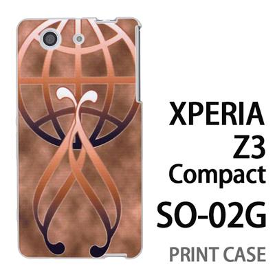XPERIA Z3 Compact SO-02G 用『No3 金のエンブレムロゴ』特殊印刷ケース【 xperia z3 compact so-02g so02g SO02G xperiaz3 エクスペリア エクスペリアz3 コンパクト docomo ケース プリント カバー スマホケース スマホカバー】の画像