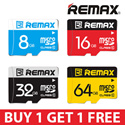 100% Authentic ★ REMAX Samsung Micro SDHC SDXC UHS-1 Class 10 Card 16GB 32GB 64GB Ultra Fast High Speed MicroSD Micro SD TF Memory Card Android Samsung Xiaomi