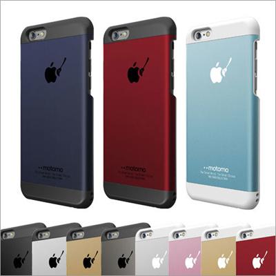 iphone 6 ケース アルミ 【motomo 正規品】 INO METAL CASE BR1、BR2、BR3 iPhone6/6Plus ケース シンプル 通販 アップル ハード メタル ストラップホール ブランド アイフォン6 softbank au 充電対応 男女兼用 デザイン【vania】【送料込メール便】の画像