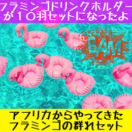 アフリカからやってきたフラミンゴの群れセット!SNSで話題!フラミンゴフロート【送料無料】フラミンゴ 浮き輪 フラミンゴ ドリンクホルダーボヘミアン 白鳥 浮き輪 ビーチ プール かわいい 浮き輪 大人