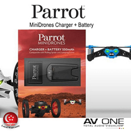 [PARROT] MiniDrones Charger and Battery / Drones / Black Color / 1 Year Local warranty from Authorized Distributor / Official Product