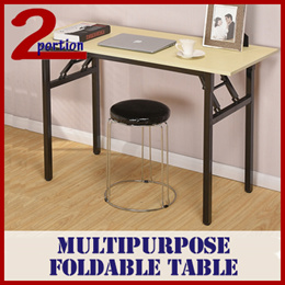 MULTIPURPOSE FOLDABLE HOUSEHOLD TABLE / COMPUTER STUDY TABLE / 2 SIZES AVAIL / 2 COL