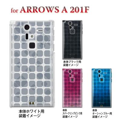 【ARROWS ケース】【201F】【Soft Bank】【カバー】【スマホケース】【クリアケース】【トランスペアレンツ】【タイル】 06-201f-ca0021qの画像