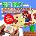Retro Handheld Game Console and Cartridge with 1000+ Games