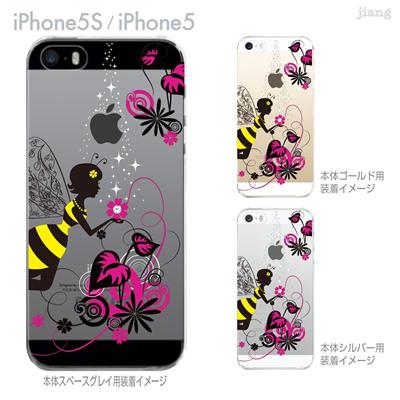 【iPhone5S】【iPhone5】【Clear Arts】【iPhone5sケース】【iPhone5ケース】【スマホケース】【クリア カバー】【クリアケース】【ハードケース】【着せ替え】【クリアーアーツ】【花と妖精】【天使】【フェアリー】01-ip5s-zes018の画像