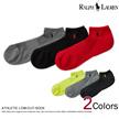★3足セット ■ポロ・ラルフローレン メンズ ソックス 靴下 Athletic Low-Cut-Sock 2種 (105244206)   送料無料 ! メンズ かっこいい ギフト にも! 大きいサイ