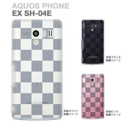 【AQUOS PHONE EX SH-04E】【IGZO】【イグゾー】【ケース】【カバー】【スマホケース】【クリアケース】【チェック・ボーダー・ドット】【ボックス】 06-sh04e-ca0021aの画像