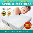 CHEAPEST INDIVIDUAL POCKETED SPRING MATTRESS 10 INCH. BUDGET FURNITURE Imperial Back Care