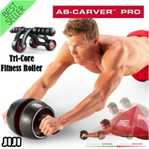 ◣AB Roller Wheel◥ Tri-Core Roller w Stopper Fitness Roller ★SG★ *abs pro * Abs Roller* Abs Carver