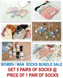 [ORTE] GSS Sale★Women Man Socks Bundle ★Cheapest 78 Cents aPair★Korean Japanese Design★ Fast Deliver