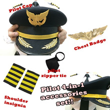 PILOT BADGE | PILOT ACCESSORIES | PILOT WINGS |  FOR COSTUME PARTY DRESS UP HALLOWEEN