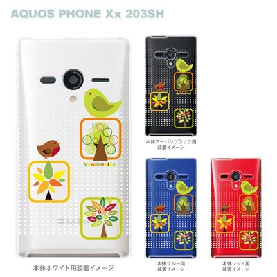【AQUOS PHONEケース】【203SH】【Soft Bank】【カバー】【スマホケース】【クリアケース】【Vuodenaika】【フラワー】 21-203sh-ne0029caの画像