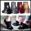 [Sura] ハイトレンドなユニーク感とゴージャスなラグジュエリー感が圧倒的な存在感を持つヒールポイントブーツ★MINK fur heel / Unique heel bootie / heel point bootie
