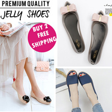 NEW JELLY DESIGN Jelly Shoes women shoes flat jelly heels wedge sandals casual shoes