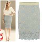 [Free-Shipping Gold-Rubber band lace skirt] 2015 Best Popular skirt /women fashion women clothing winter