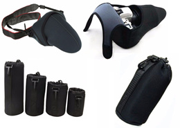 Neoprene DSLR / Mirrorless Camera Wrap / Lens Case Bag Pouch