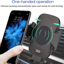 SUPER DEAL💥LATEST Automatic Open and Close💥C9 2in1 Car Phone Holder Wireless Fast Charger❤
