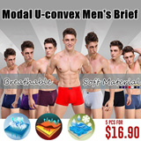 [LOCAL SELLER] Modal U-convex Mens Brief / Breathable and Soft Material Underwear/ The Man Health Essential Choice! Regain Passion !