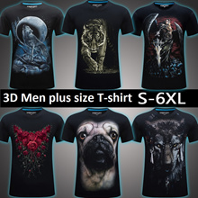 Men plus size T-shirts men big size clothes Men short sleeve T-shirt  Casual 3D printing t-shirt