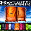 UNDER ARMOUR Waterproof Drawstring Bag◀Sports Backpack/Travel Bag/Shoe Bag/Shoulder Bag/ Soccer Basketball Bags/Unisex/HARVEST BAG/SHOULDER BAG/SMALL BAG/HAND BAG/SCHOOL BAG/CAMP/Travel Bag