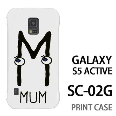 GALAXY S5 Active SC-02G 用『0623 「M」』特殊印刷ケース【 galaxy s5 active SC-02G sc02g SC02G galaxys5 ギャラクシー ギャラクシーs5 アクティブ docomo ケース プリント カバー スマホケース スマホカバー】の画像