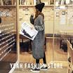 韓国ファッション ニット 新作★ニットスプライスモコモコ暖かい厚めのアウター セーター