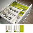 Expandable Drawer Storage with Cutlery Tray /  Kitchen Organizer Shelf  Paper Dispenser Towel
