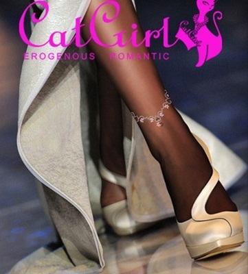 チラ見せCatgirl タトゥーストッキング 2色、4柄☆8種類よりお選び下さい♪ショートパンツ、スカートに◎【セクシー、アンクル】の画像