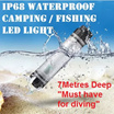 IP68 Certified Waterproof Rechargeable Power bank 2600mah LED Lamp Torchlight Camping Picnic Diving