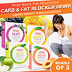 First 100 Set [ Bundle of 3 Boxes ]  Xndo Fat and Carbs Blocker Drinks
