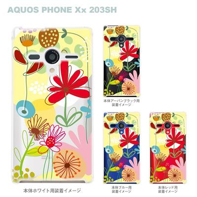 【AQUOS PHONEケース】【203SH】【Soft Bank】【カバー】【スマホケース】【クリアケース】【Vuodenaika】【フラワー】 21-203sh-ne0038caの画像