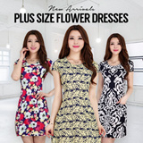 【BUY 2 FREE SHIPPING】 Flower Dress Comfort Material Plus Size Large Size Dress Blouse Tops Floral Dress Skirt Pants T-shirt To 4XL Limited time offer