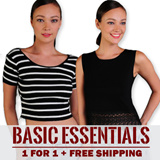 ★BASICS TOPS ★Local Seller ★ Instock ★ BUY 1 GET 1 FREE -- FREE LOCAL SHIPPING