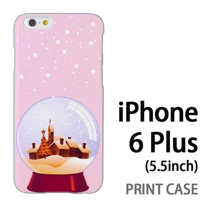 iPhone6 Plus (5.5インチ) 用『1222 冬景色in水晶 ピンク』特殊印刷ケース【 iphone6 plus iphone アイフォン アイフォン6 プラス au docomo softbank Apple ケース プリント カバー スマホケース スマホカバー 】の画像