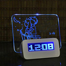 Jam + Papan Memo LCD Display Alarm Clock with Memo Board