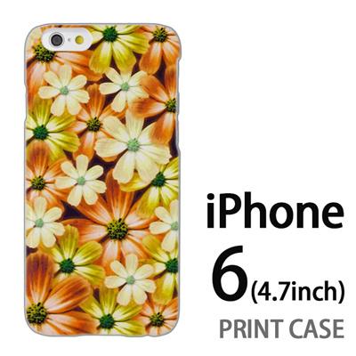 iPhone6 (4.7インチ) 用『No4 マーブルフラワー』特殊印刷ケース【 iphone6 iphone アイフォン アイフォン6 au docomo softbank Apple ケース プリント カバー スマホケース スマホカバー 】の画像