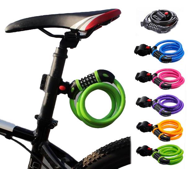 ワイヤーロック CLKD5TY566 自転車 鍵 ワイヤーロック ケーブルロック ダイヤル ロック シートポスト ブラケット