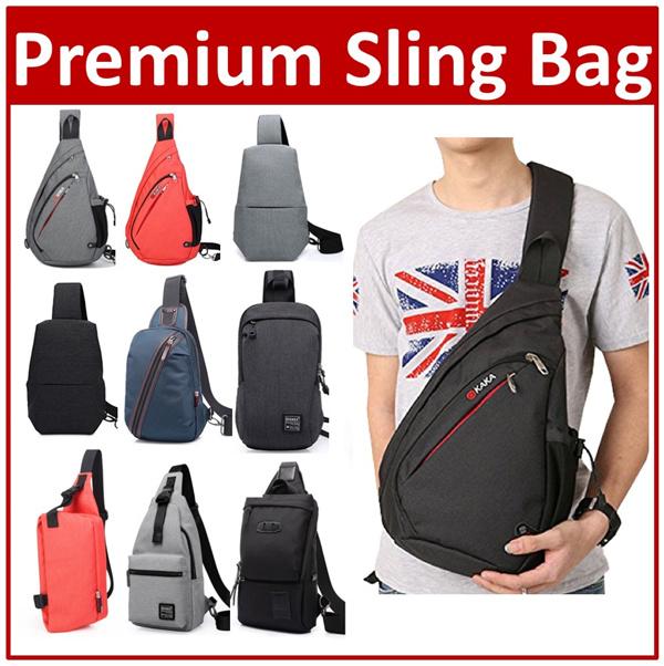 Premium Chest Sling Shoulder Backpack Day Bag Crossbody Multipurpose unbalance Men Man Gift Deals for only S$50 instead of S$0