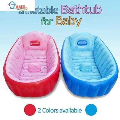 qoo10 inflatable baby bathtub 2 colors available soft. Black Bedroom Furniture Sets. Home Design Ideas