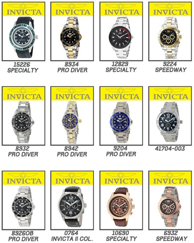 Qoo10 invicta lowest price clearance watch collection watch jewelry for Watches clearance