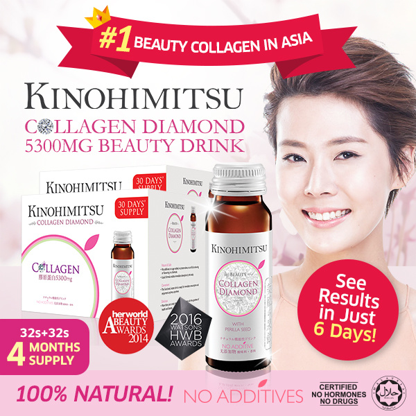 *4 MTHS SUPPLY* Kinohimitsu Collagen Diamond 5300mg 32s+32s Buy 1 Free 1 Deals for only S$279.6 instead of S$0