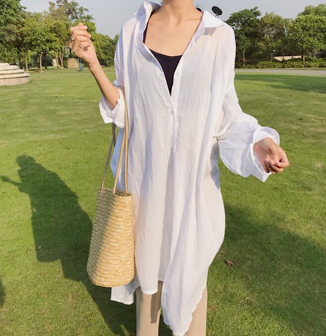 Qoo10着物風シフォンロングカーディガン襟なし アンチ日焼け紫外UV レディース 花柄ロングカーディガン 夏に活躍のサラサラ羽織 花柄の着物風ガウン&カーディガン