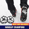 [ Local Next Day Delivery ] Winter Easy Non-slip Crampons Ice Snow boots / climbing irons / ICE Snow Crampons / Cleats Shoes Grip Eisen / Footwear Non-Slip Crampons / Gaiter  / Eisen